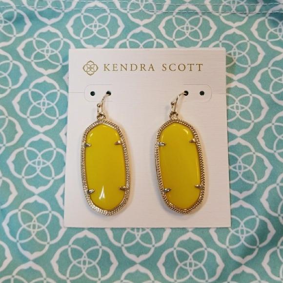 ab8b3e51733f2 Kendra Scott Yellow Elle earrings